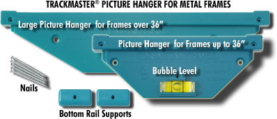 How To Hang Metal Picture Frames with TrackMaster