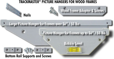 How To Hang Wood Picture Frames with TrackMaster